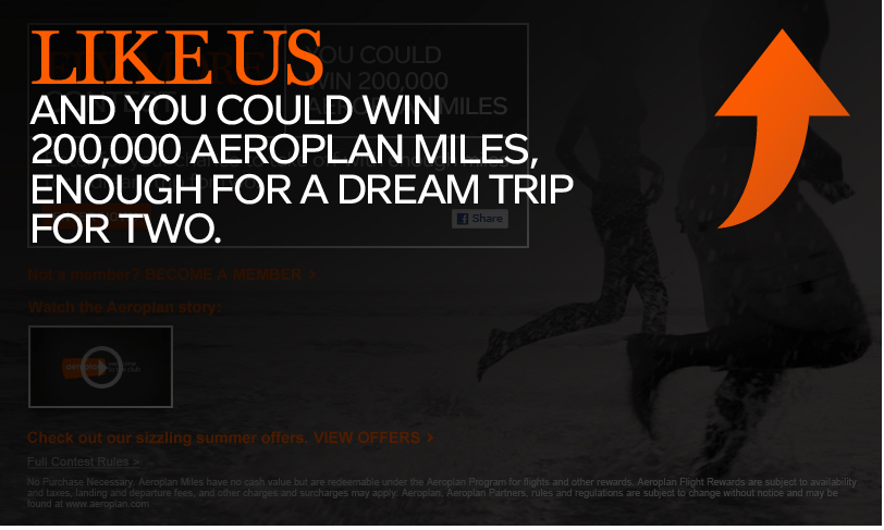Aeroplan Fly More Contest