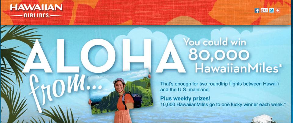 Aloha From Hawaiian Airlines – 80,000 Miles
