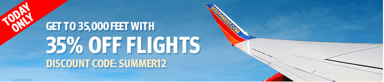 35% Off Flights On Southwest – Today Only