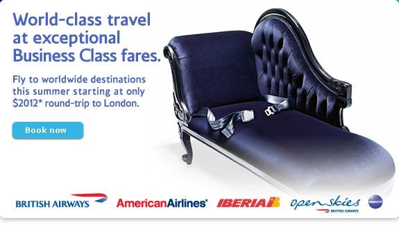 British Airways $2012 Business Class Sale