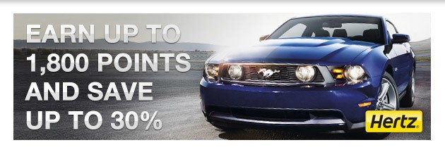 Earn 3x Points* And Save 30%* With Hertz And Southwest