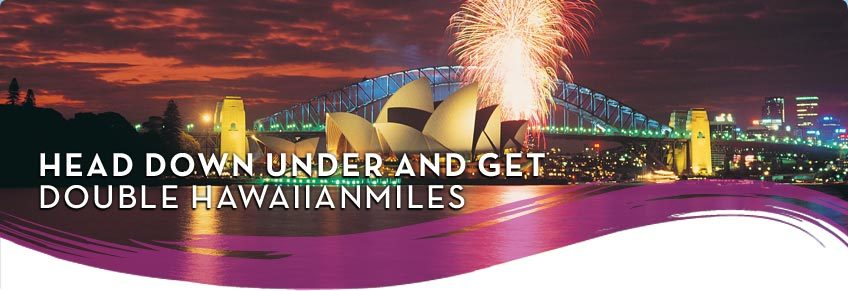 Double Miles To Sydney On Hawaiian Airlines