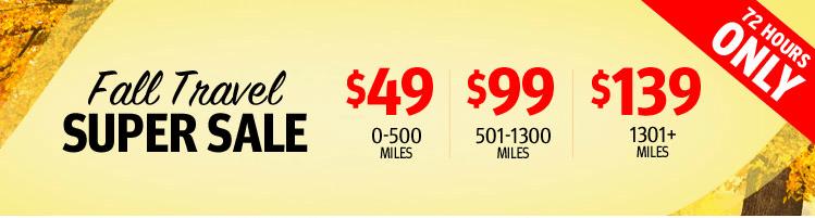 Southwest Fall Travel Super Sale – 72 Hours