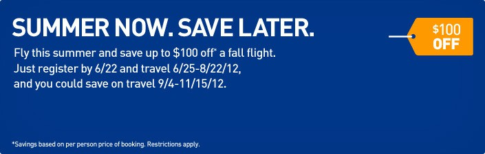 Summer Now Save Later jetBlue Summer Promotion