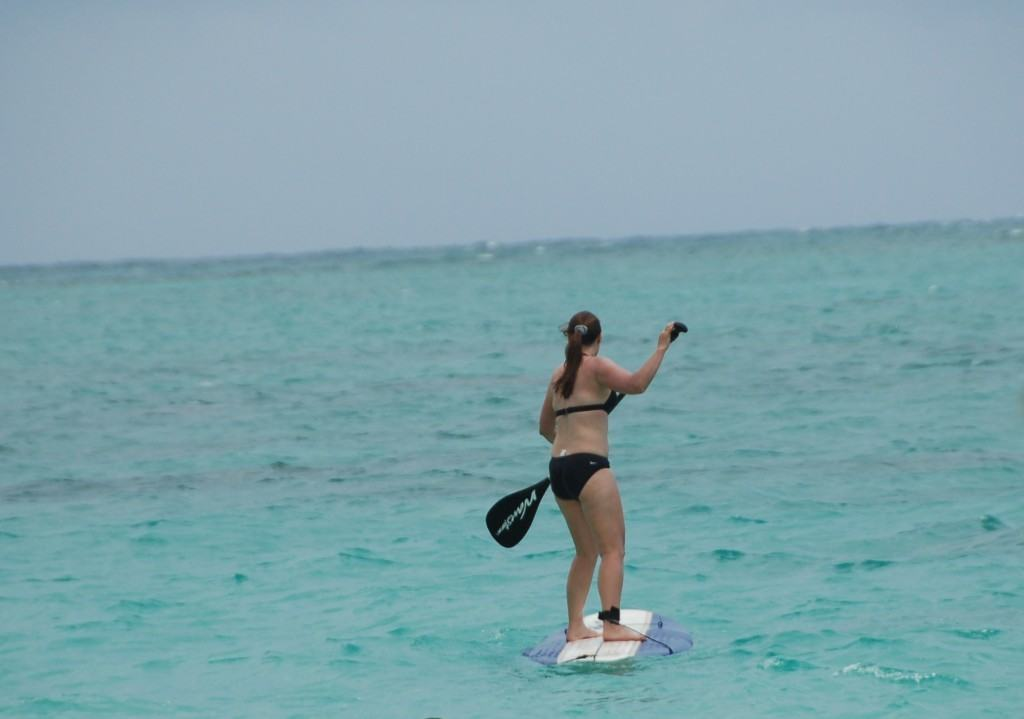 How to stand up paddle board standing on the paddle board