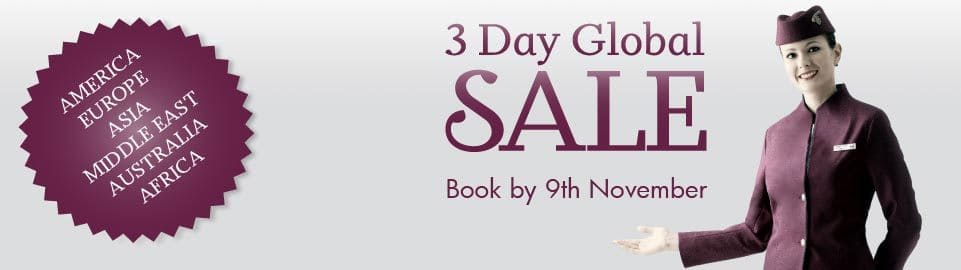 3 day global sale qatar airways