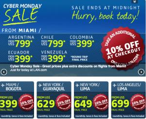 Miami to Ecuador $399 total roundtrip LAN