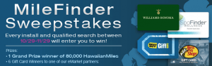 win 80,000 hawaiian miles in milefinder sweepstakes