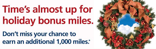 1,000 bonus miles, dividend miles