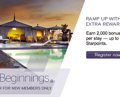 Bonus beginnings earn up to 6000 starpoints