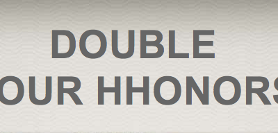 Double Your HHonors