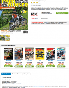Road Runner Motorcycle touring magazine