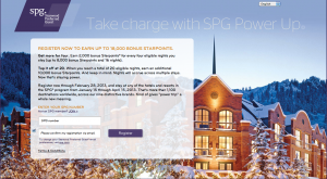 SPG Power Up Promotion Up to 18,000 Starpoints
