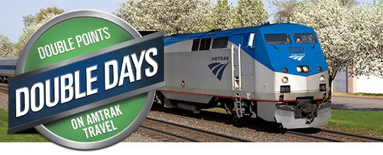Amtrak Double Days Double Points Promotion