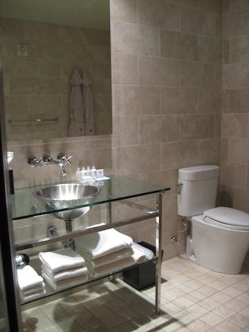 Andaz san diego extra large loft bathroom traveling well for Bathroom stores san diego