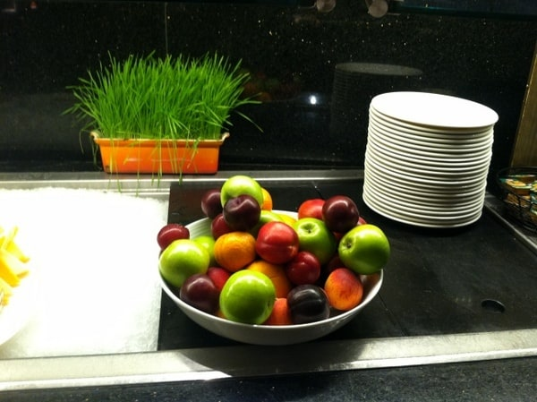 Fairmont Chateau Laurier Breakfast Buffet Apples and Plums