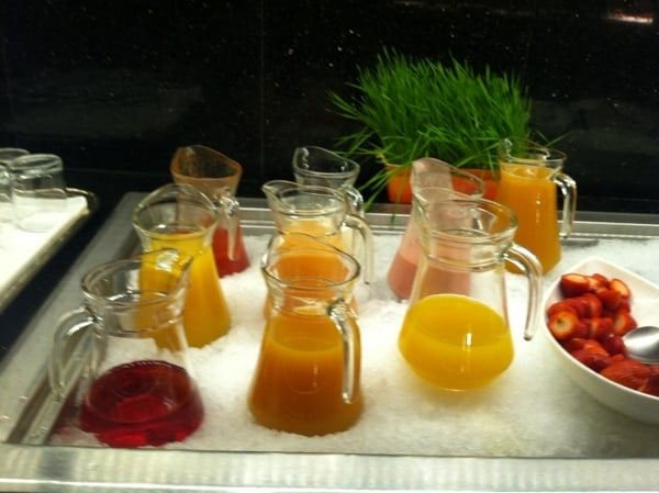 Fairmont Chateau Laurier Breakfast Buffet Juices
