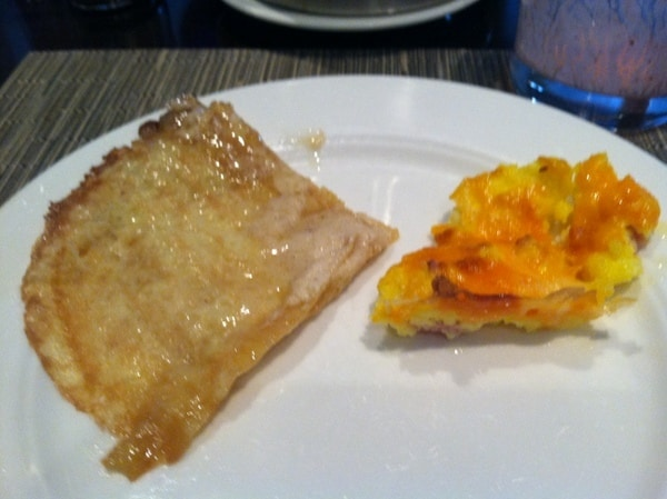 Fairmont Chateau Laurier Breakfast Buffet Maple Butter Crepes and Vegetable Frittata