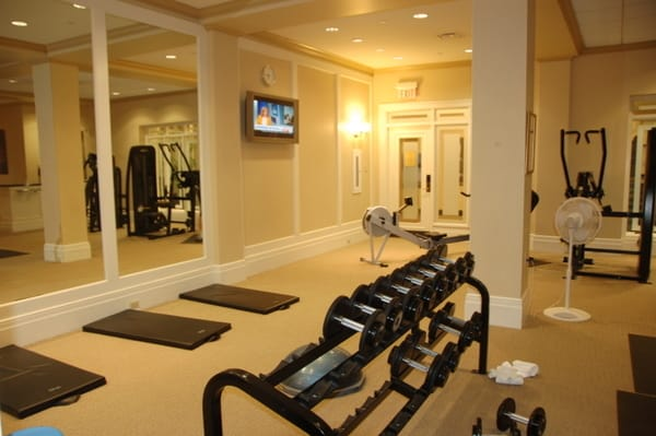Fairmont Chateau Laurier Health Club Free Weights