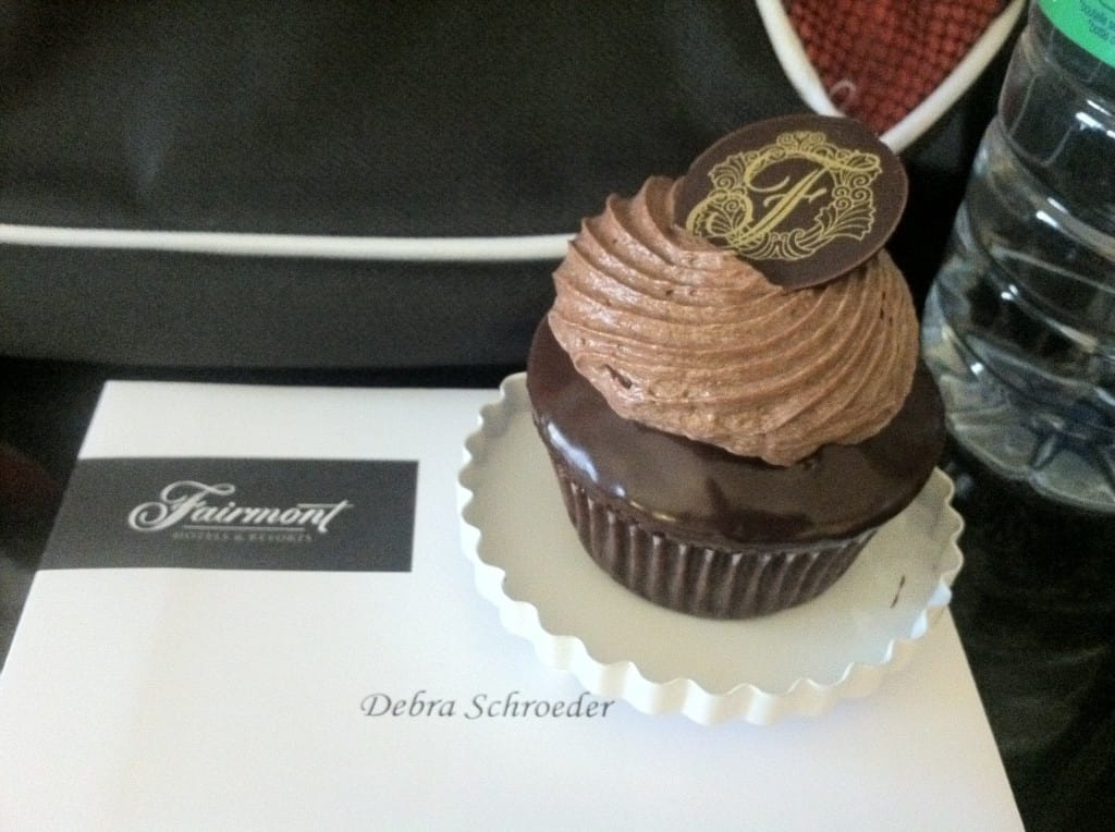 Fairmont Chateau Laurier Sweet vs Spicy Chocolate Cupcake