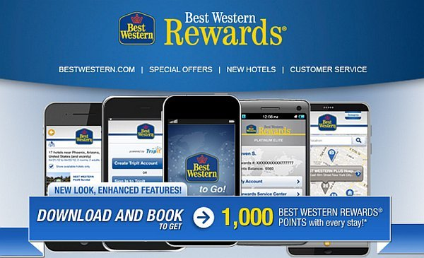 Get 1000 Best Western Rewards Points
