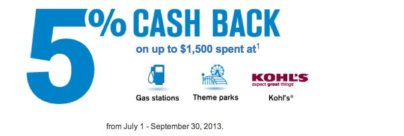 5% cash back Chase Freedom Third Quarter bonus