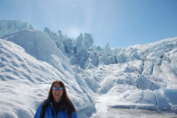 trapped on a glacier surrounded by glaciers