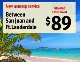 Fort Lauderdale to San Juan For $89
