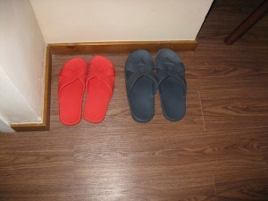 Slippers For Him and Her Mingtown Nanjing Road Youth Hostel Review