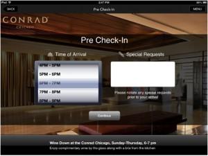 hotel app check in
