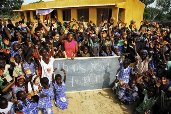 A school in Mail built by buildOn
