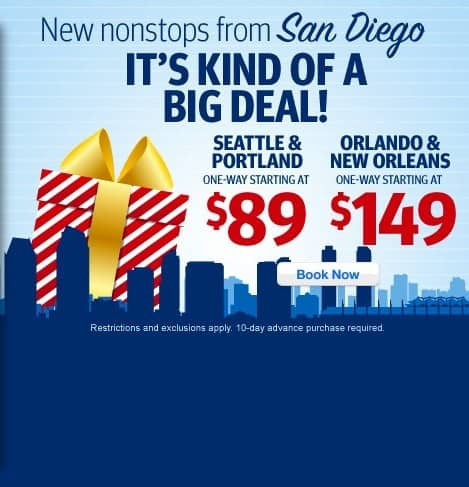 Fly to San Diego from $89 Traveling Well For Less