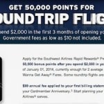 Southwest 50,000 Point Cards Are Back!