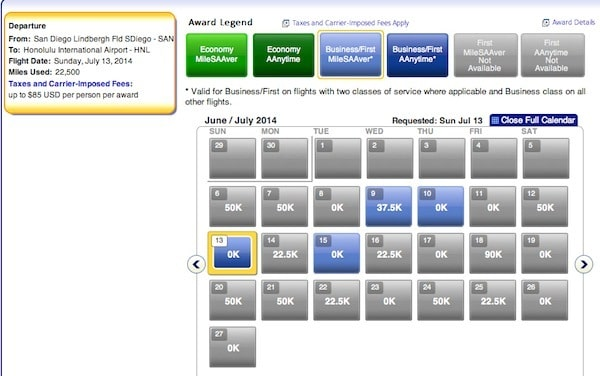 Using American Airlines Miles to Hawaii This Summer San Diego to Honolulu First Class Traveling Well For Less