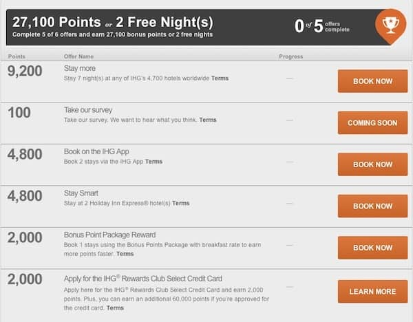 2 Free Nights or up to 50,000 IHG Points With IHG Into the Nights My offers Traveling Well For Less