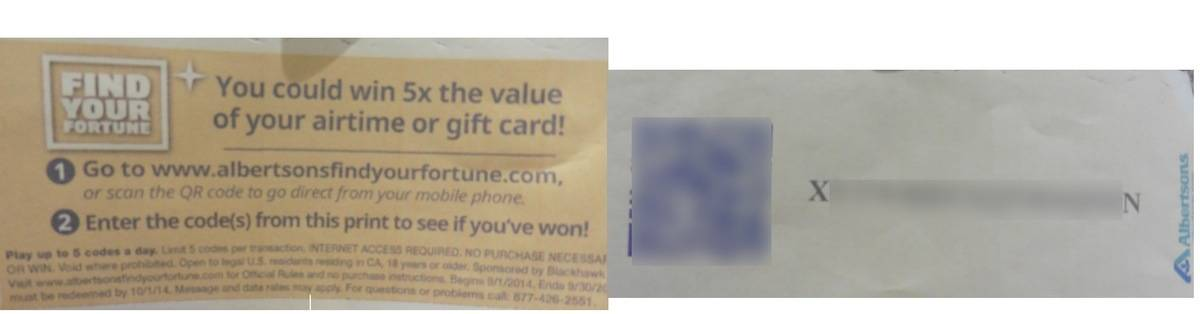 Buy a $100 Gift Card, Win a $500 Gift Card QR Code