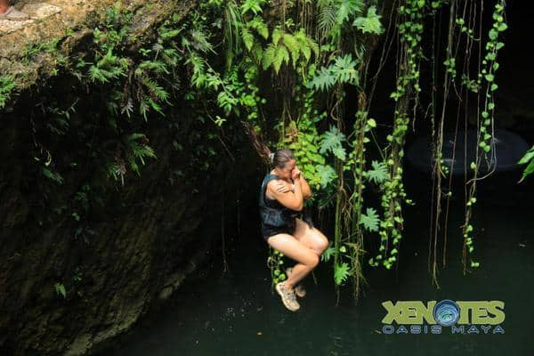 Kaak Xenotes cliff jumping Traveling Well For Less