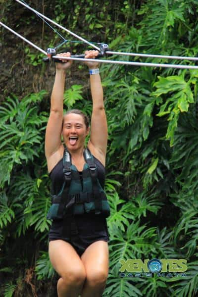 Fire Xenote Kaak zipline Traveling Well For Less