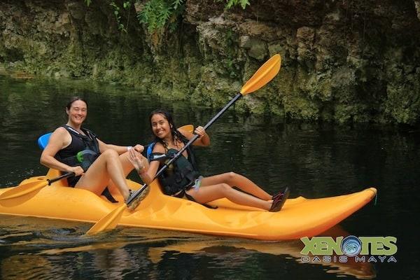 kayak at Ha Xenotes Oasis Maya Traveling Well For Less