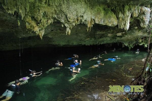 snorkeling at Ha Xenotes Oasis Maya Traveling Well For Less