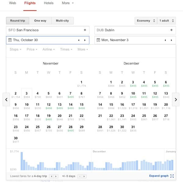 Google flights calendar search Traveling Well For Less