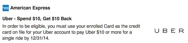 $10 Off Uber With Amex Sync Traveling Well For Less