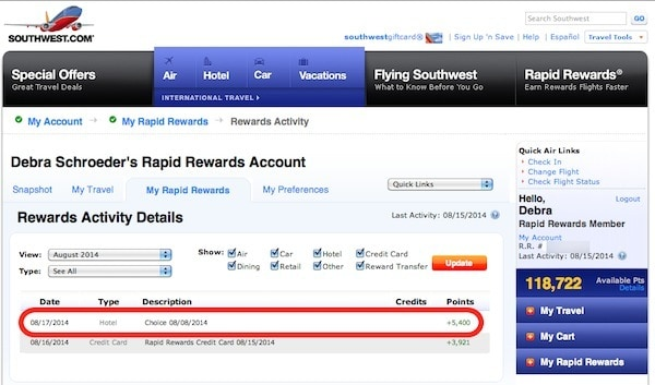 Choice Hotels Points Count Towards Southwest Companion P