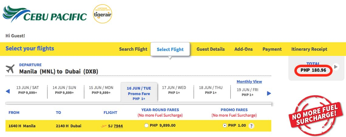Manilla to Dubai for $3 Traveling Well For Less