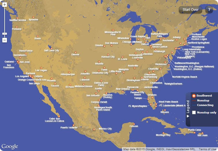 All the places Southwest flies Traveling Well For Less