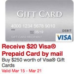 Get $20 When You Buy $250 in Visa Gift Cards at Staples