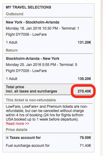 round-trip to Stockholm for $285 Traveling Well For Less