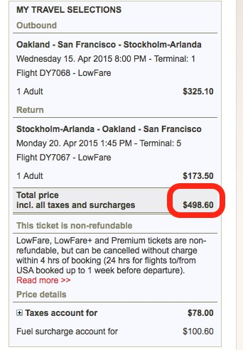 round-trip to Stockholm for $498 Traveling Well For Less