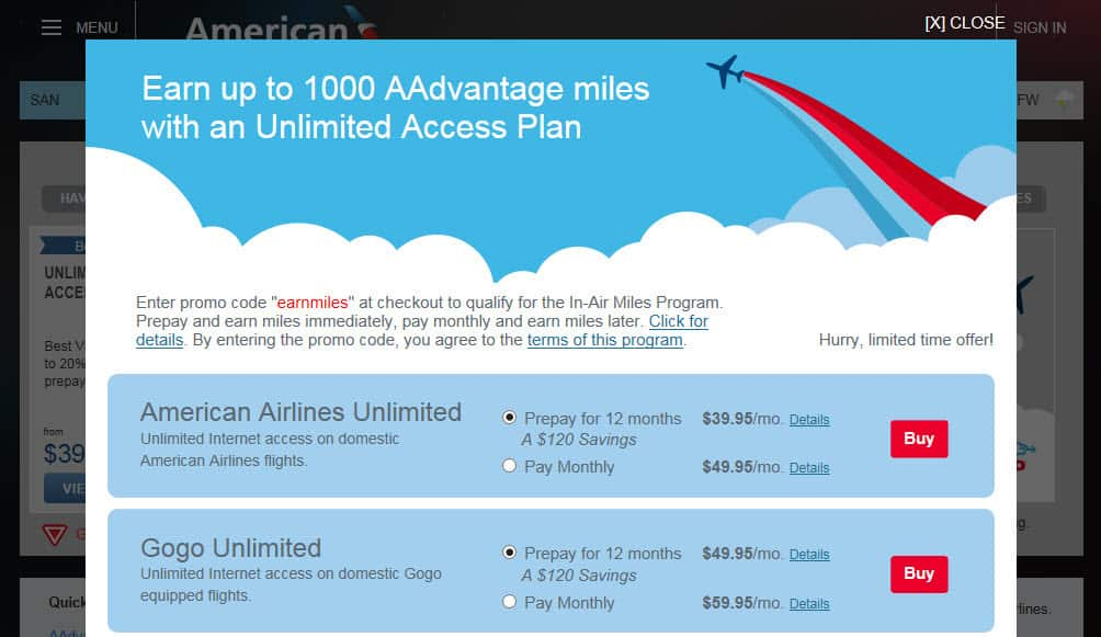 1,000 American Airlines Miles With GoGo Returns Traveling Well For Less