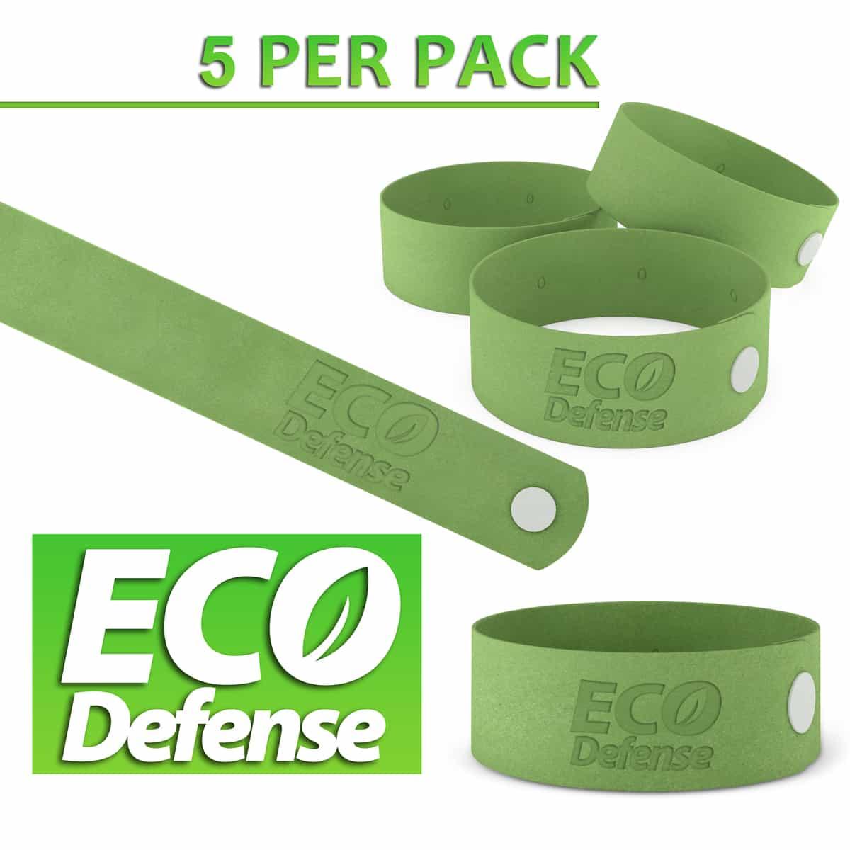 5 Pack ECO Defense Mosquito Repellent bracelets